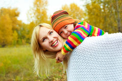 Mother and son outdoor Stock Photo