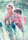 Mother and son outdoor Royalty Free Stock Images