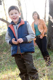 Mother and son outdoor set Stock Photography