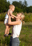 Mother And Son Outdoors Royalty Free Stock Photo