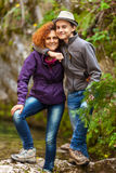 Mother and son outdoors Royalty Free Stock Images