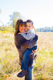 Mother and Son Outdoors Royalty Free Stock Image