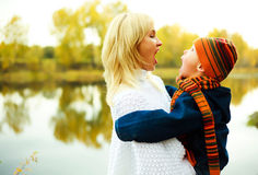 Mother and son in the park Royalty Free Stock Photography