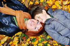 Mother and son in the park Stock Image