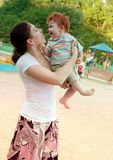 Mother and son in park Stock Photos