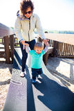 Mother and Son at the Park Stock Images