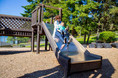 Mother and Son at the Park Royalty Free Stock Photo