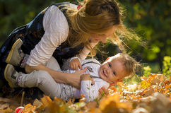 Mother with son in park Stock Image