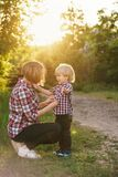 Mother and son. Family time Stock Photo