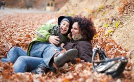 Mother and son playing Royalty Free Stock Images