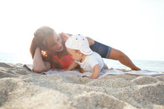 Mother and son playing Stock Image