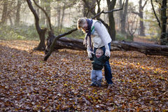 A mother and son playing in the park Royalty Free Stock Photo