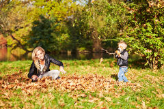 Mother and son playing together Royalty Free Stock Image