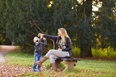Mother and son playing together Royalty Free Stock Photo