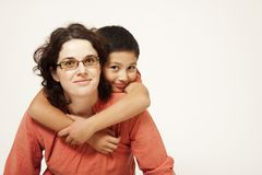 Mother and son portrait. Portrait of mother and cute son Stock Photography