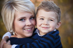 Mother and son portrait Stock Photo