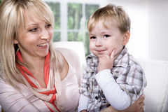 Mother and son portrait Stock Image