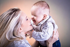 Mother and son portrait Royalty Free Stock Photos