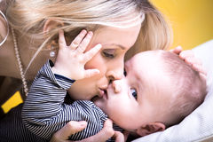 Mother and son portrait Royalty Free Stock Images