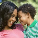 Mother and son portrait. Royalty Free Stock Images