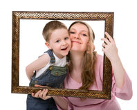 Mother and son portrait Stock Images