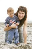Mother with son portrait Stock Photo