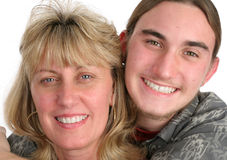 Mother Son Portrait Closeup Royalty Free Stock Photo