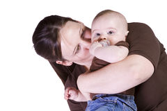 Mother and Son Posing Stock Photography