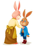 Mother and son rabbit Stock Image