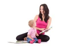 Mother son read book Royalty Free Stock Photos