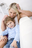 Mother and son relaxing Stock Photos
