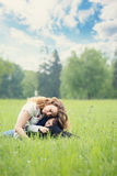 Mother and son are resting Stock Images