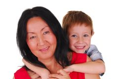 Mother and Son Seven Stock Image