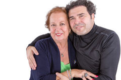 Mother and son sharing a tender moment Stock Photos