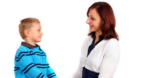 Mother, Son , Small Family Royalty Free Stock Photography
