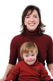 Mother and son smiling Royalty Free Stock Photo