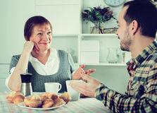 Mother and son spending time Royalty Free Stock Photos