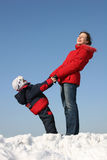 Mother with son stand Royalty Free Stock Photo