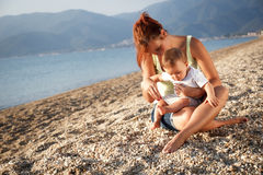 Mother and son summer portrait Royalty Free Stock Images