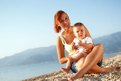 Mother and son summer portrait Royalty Free Stock Photography