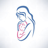 Mother and son symbol Stock Photo