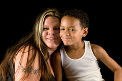 Mother and son - a team Royalty Free Stock Image