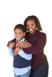 A mother and son together Stock Images
