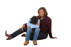 A mother and son together Royalty Free Stock Images