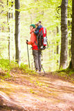 The mother and son are traveling. Stock Image