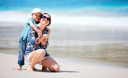 Mother and son on vacation Royalty Free Stock Photos