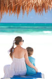 Mother and son on vacation Stock Photo