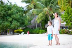 Mother and son on vacation Royalty Free Stock Images