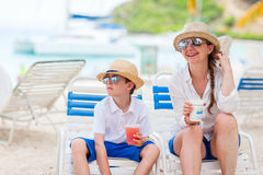 Mother and son on vacation Stock Images