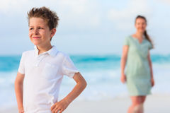 Mother and son on vacation Stock Photos